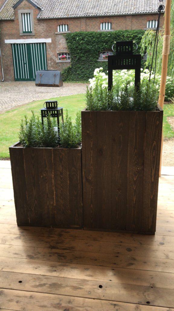 Jardinières en bois